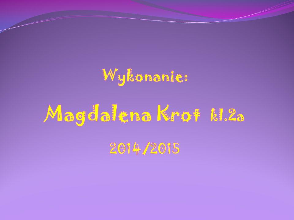 Wykonanie: Magdalena Krot kl.2a 2014/2015