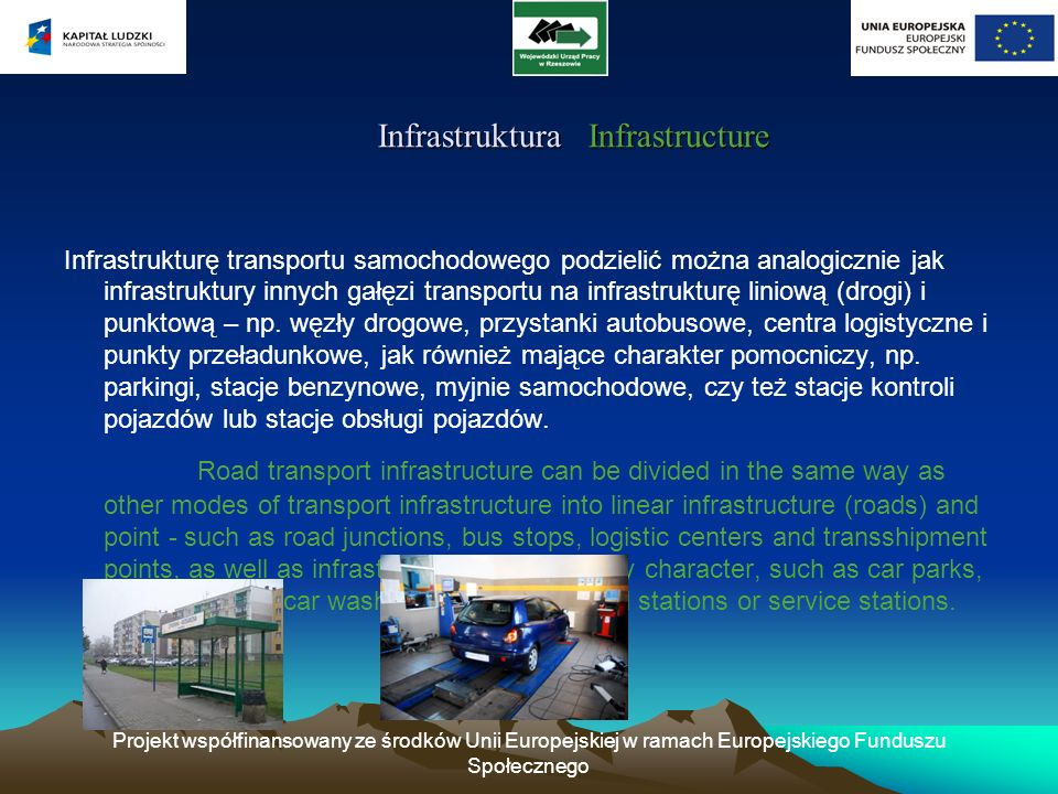 Infrastruktura Infrastructure