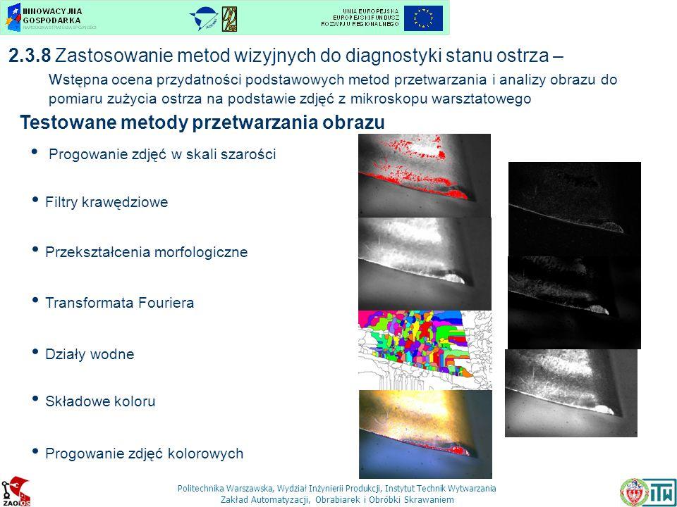Testowane metody przetwarzania obrazu