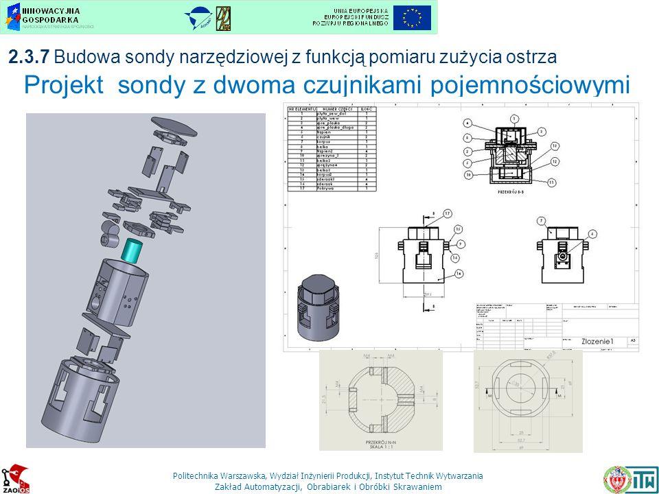 Projekt sondy z dwoma czujnikami pojemnościowymi