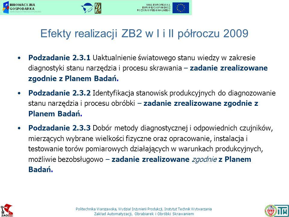 Efekty realizacji ZB2 w I i II półroczu 2009