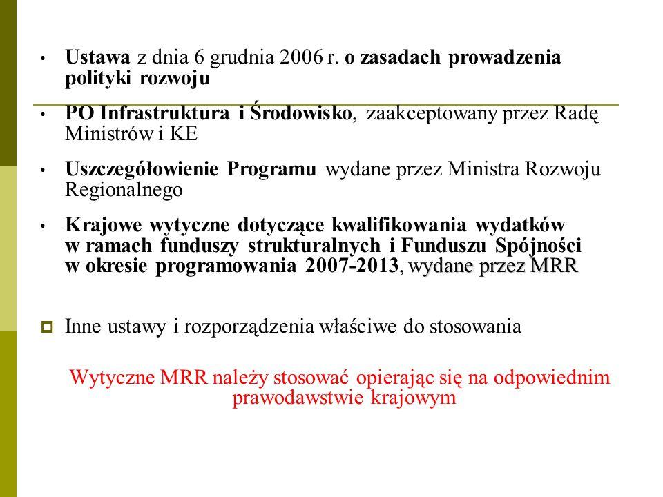 Ustawa z dnia 6 grudnia 2006 r. o zasadach prowadzenia polityki rozwoju