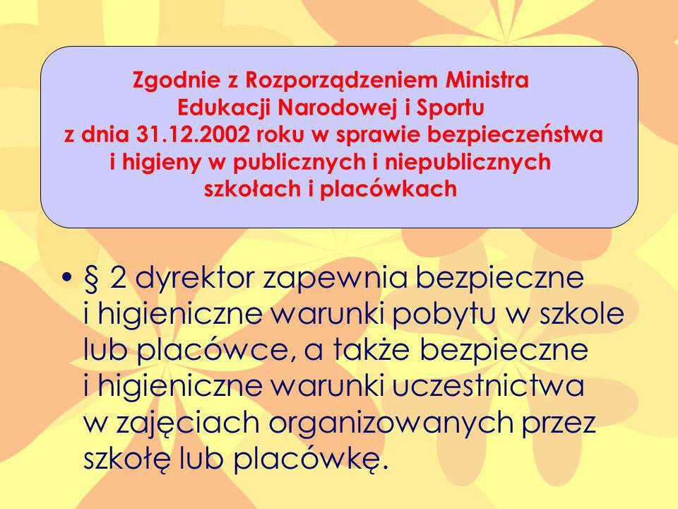 Zgodnie z Rozporządzeniem Ministra Edukacji Narodowej i Sportu