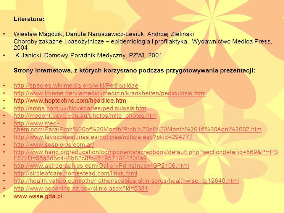 Literatura: Wiesław Magdzik, Danuta Naruszewicz-Lesiuk, Andrzej Zieliński.
