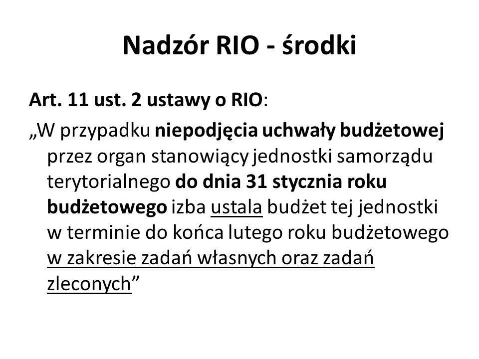 Nadzór RIO - środki