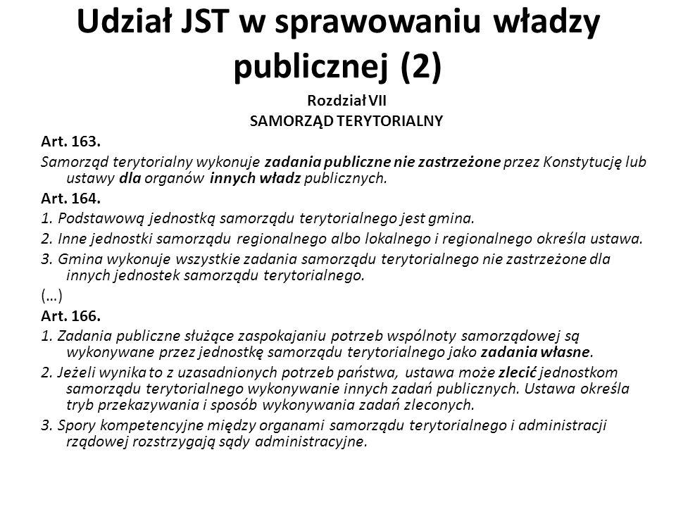 Udział JST w sprawowaniu władzy publicznej (2)
