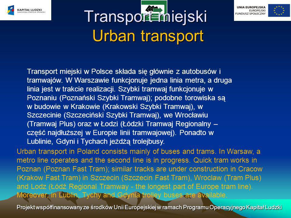 Transport miejski Urban transport