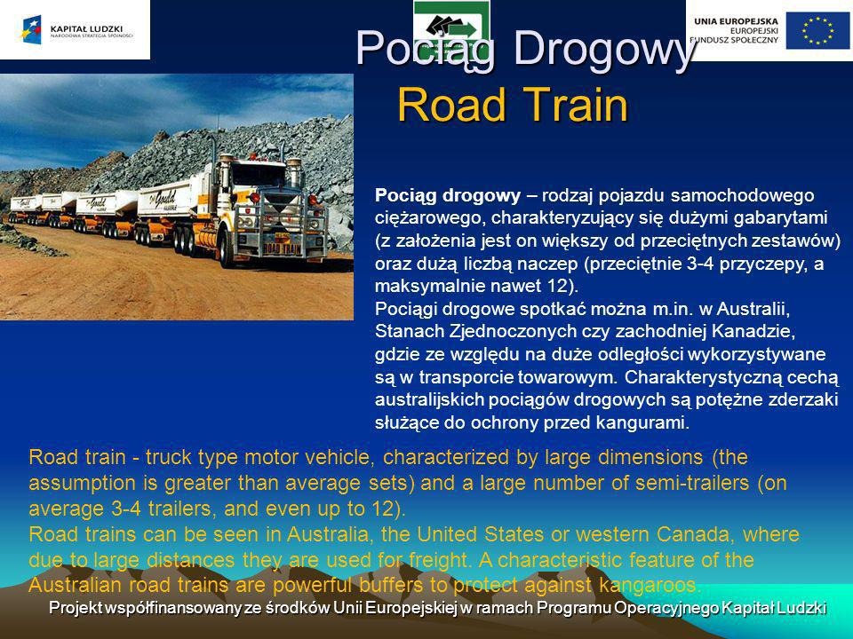 Pociąg Drogowy Road Train
