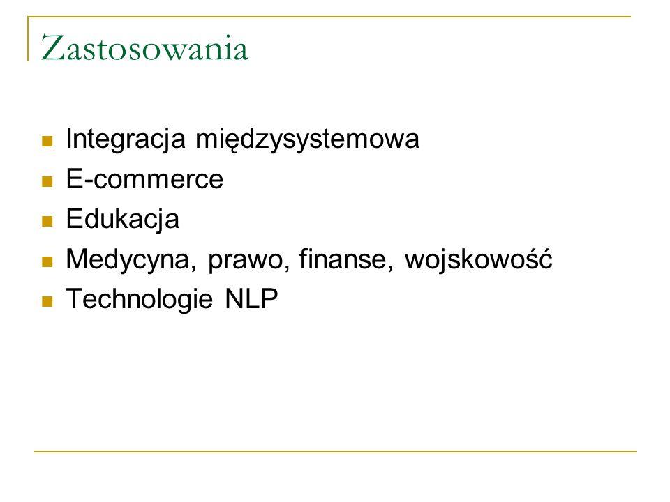 Zastosowania Integracja międzysystemowa E-commerce Edukacja