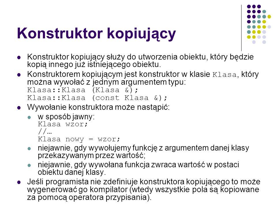 Konstruktor kopiujący
