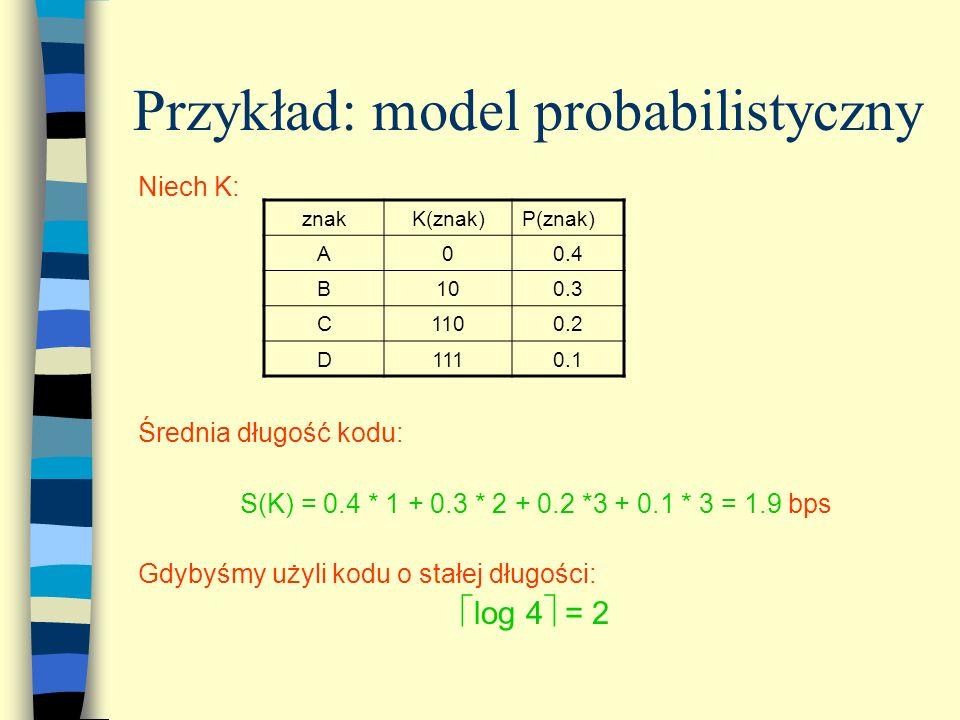 Przykład: model probabilistyczny
