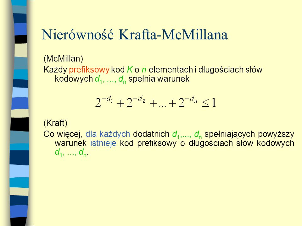 Nierówność Krafta-McMillana