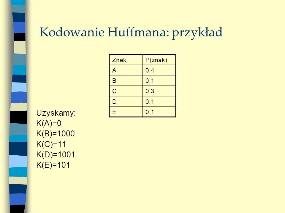 Kodowanie Huffmana: przykład