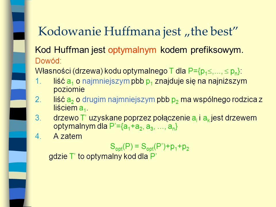 """Kodowanie Huffmana jest """"the best"""