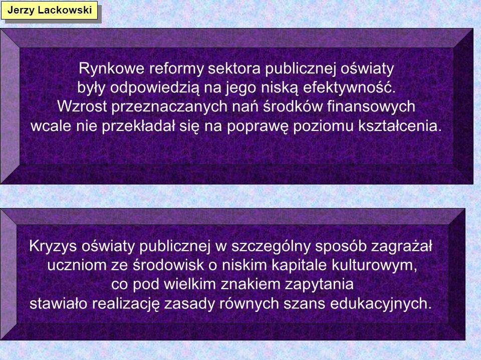 Rynkowe reformy sektora publicznej oświaty