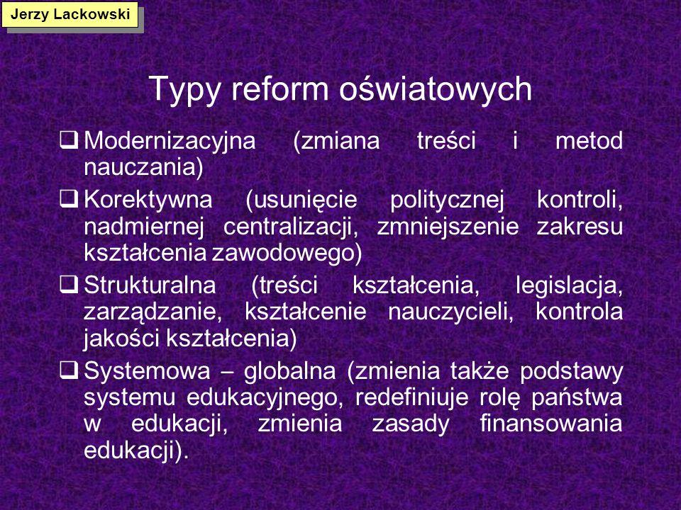 Typy reform oświatowych