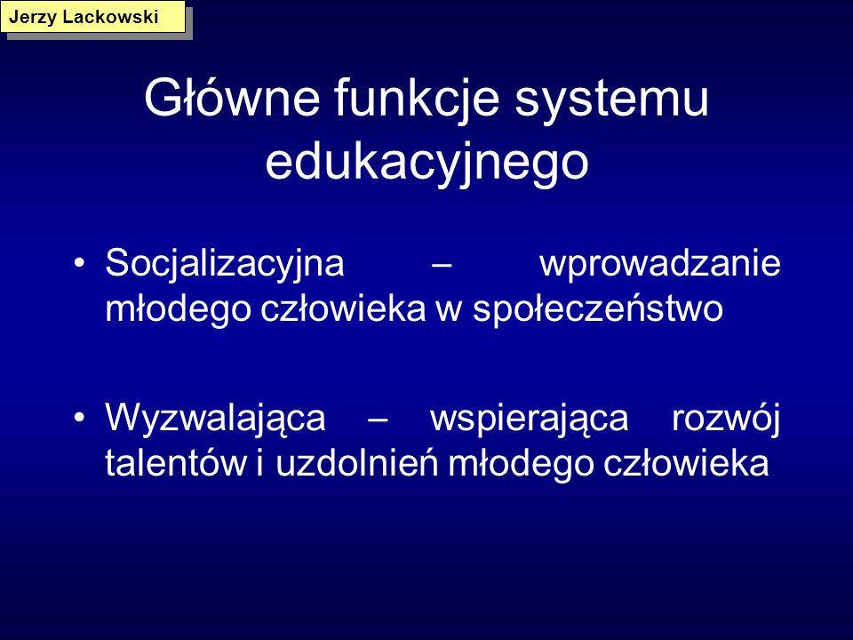 Główne funkcje systemu edukacyjnego