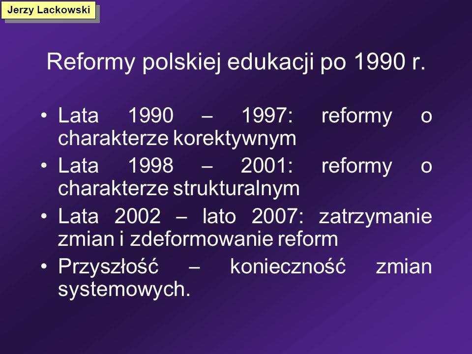 Reformy polskiej edukacji po 1990 r.