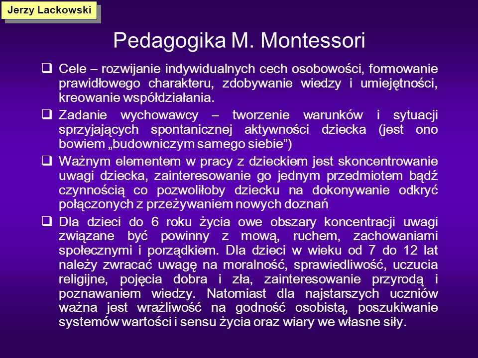 Pedagogika M. Montessori