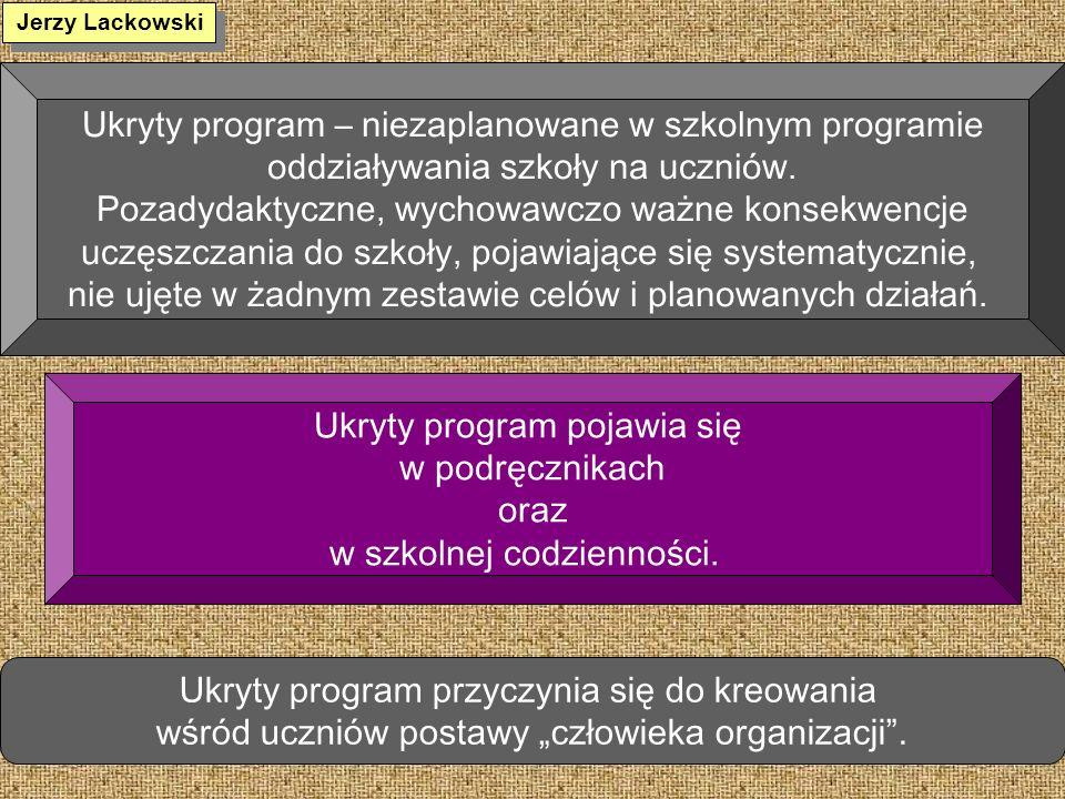 Ukryty program – niezaplanowane w szkolnym programie