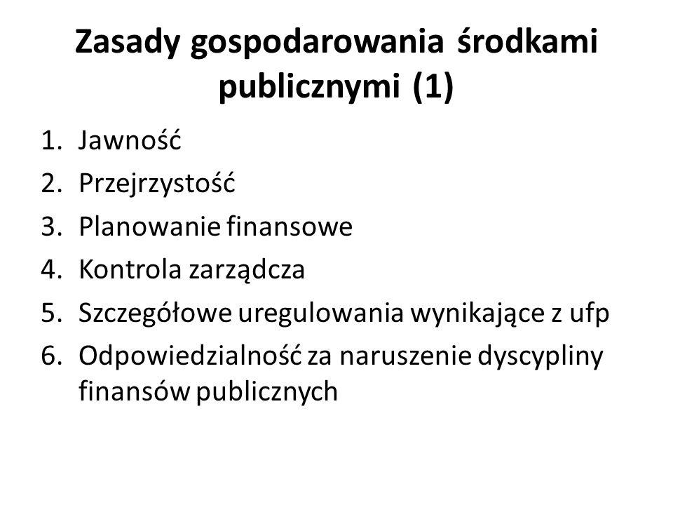 Zasady gospodarowania środkami publicznymi (1)