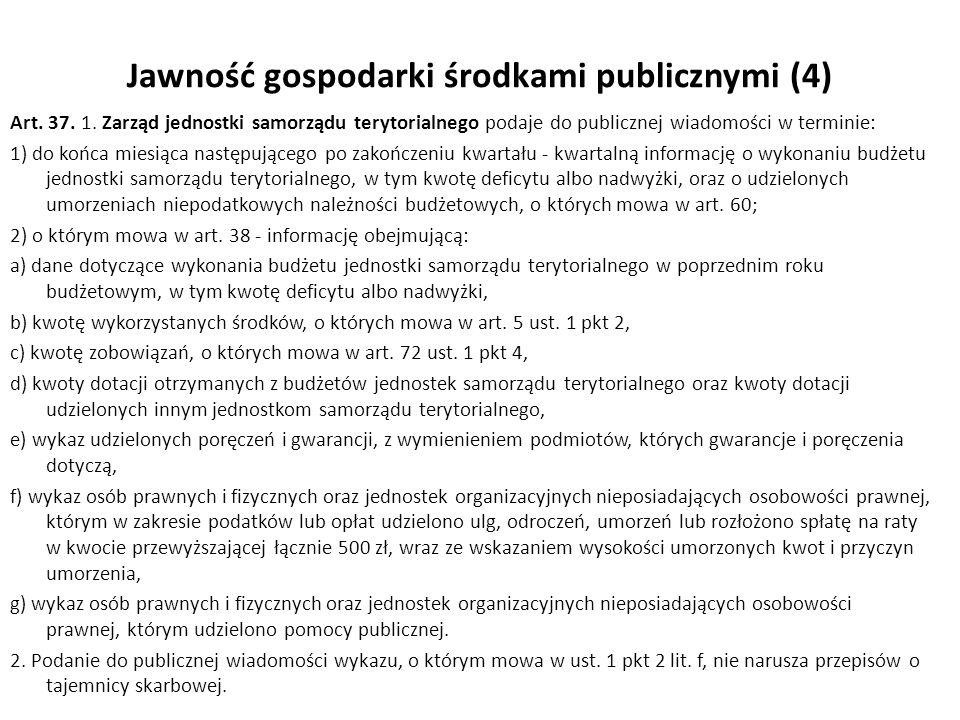 Jawność gospodarki środkami publicznymi (4)