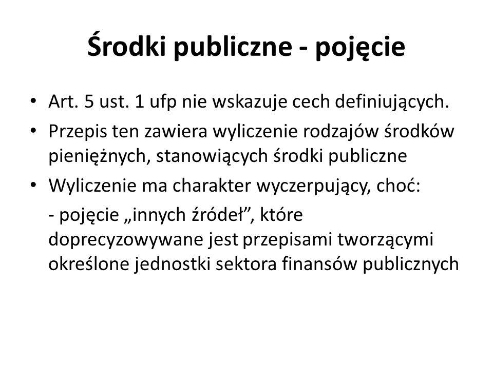 Środki publiczne - pojęcie