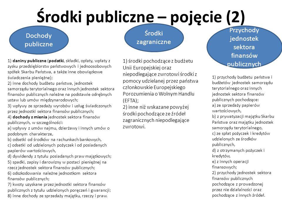 Środki publiczne – pojęcie (2)