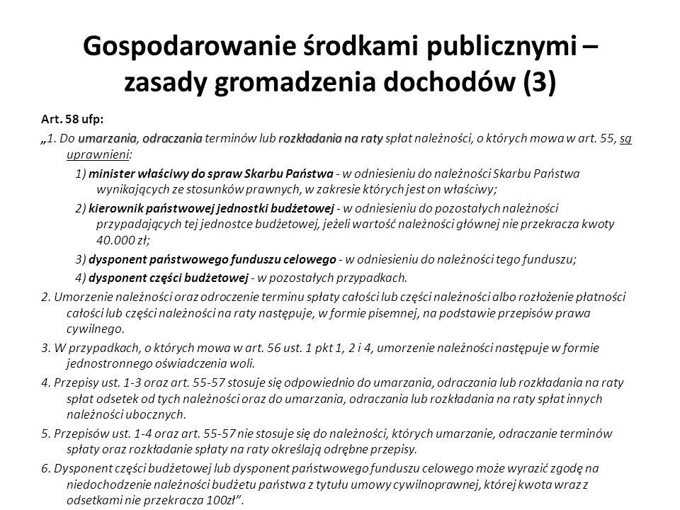 Gospodarowanie środkami publicznymi – zasady gromadzenia dochodów (3)