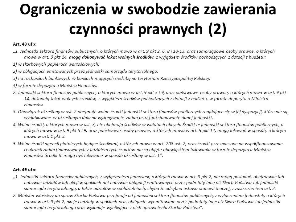 Ograniczenia w swobodzie zawierania czynności prawnych (2)
