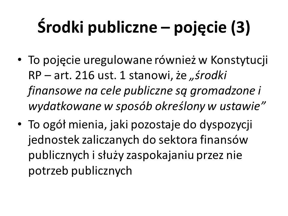 Środki publiczne – pojęcie (3)