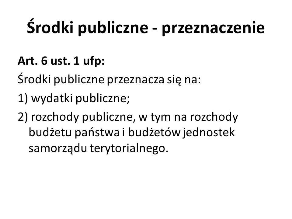 Środki publiczne - przeznaczenie