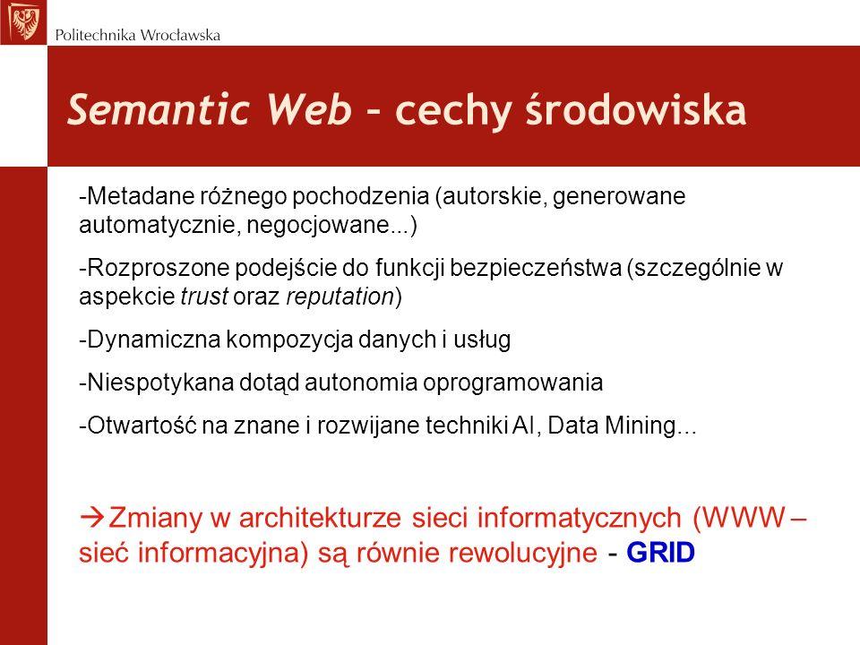 Semantic Web – cechy środowiska