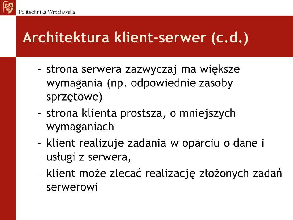 Architektura klient-serwer (c.d.)