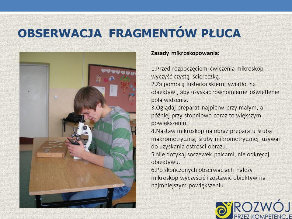 Obserwacja Fragmentów płuca