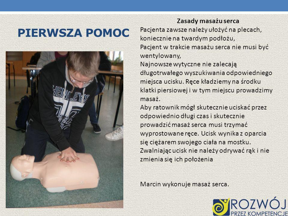 Pierwsza pomoc Zasady masażu serca