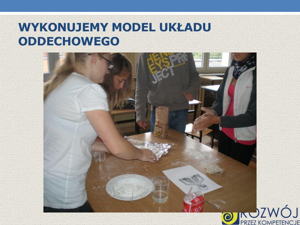 Wykonujemy model układu oddechowego