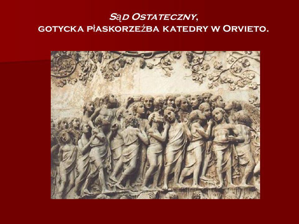 gotycka płaskorzeźba katedry w Orvieto.