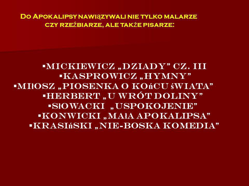 """Mickiewicz """"Dziady cz. III Kasprowicz """"Hymny"""