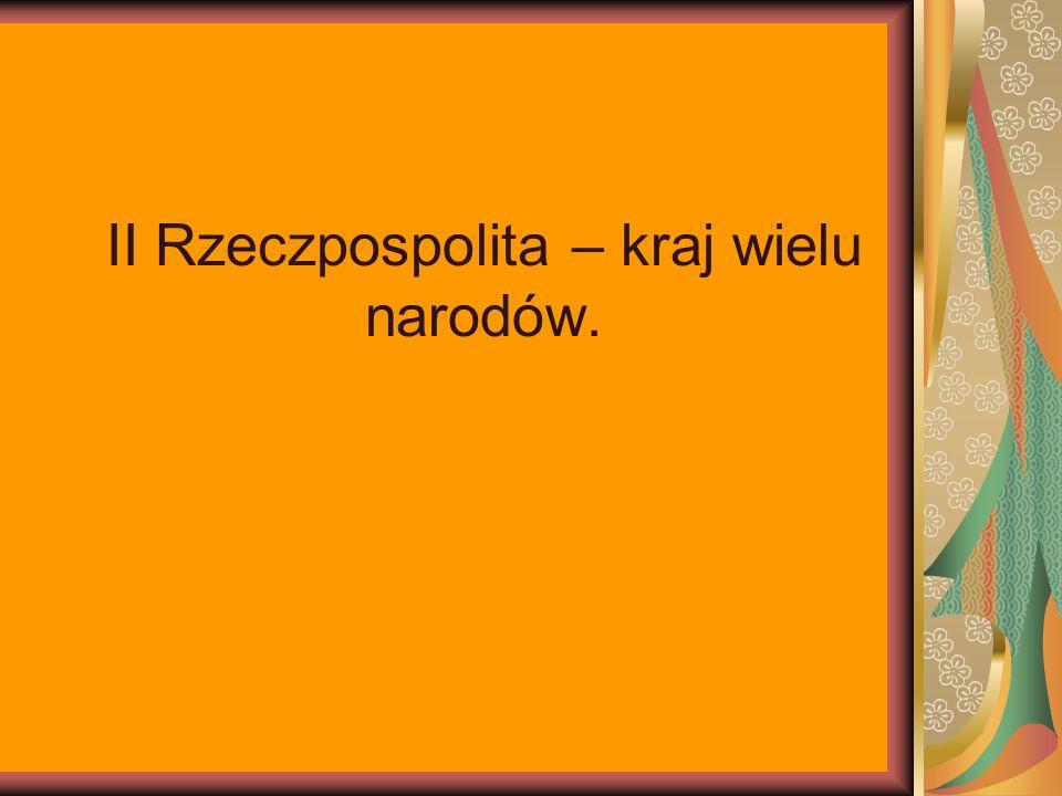 II Rzeczpospolita – kraj wielu narodów.