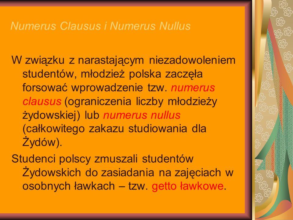 Numerus Clausus i Numerus Nullus