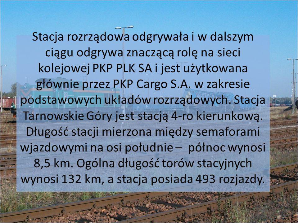Stacja rozrządowa odgrywała i w dalszym ciągu odgrywa znaczącą rolę na sieci kolejowej PKP PLK SA i jest użytkowana głównie przez PKP Cargo S.A.