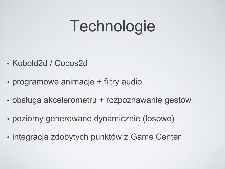 Technologie Kobold2d / Cocos2d programowe animacje + filtry audio