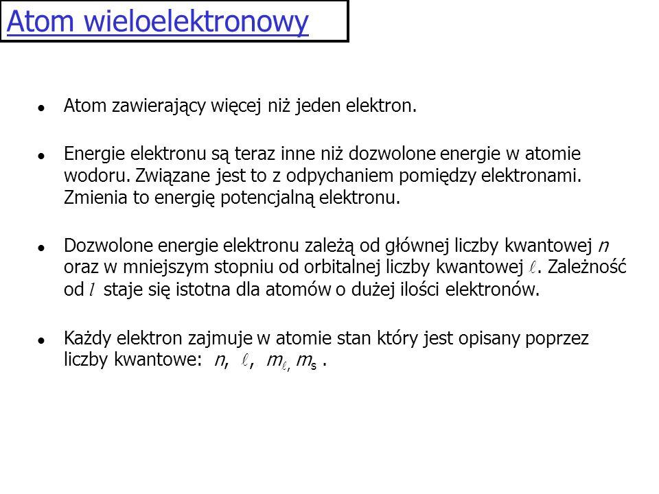 Atom wieloelektronowy