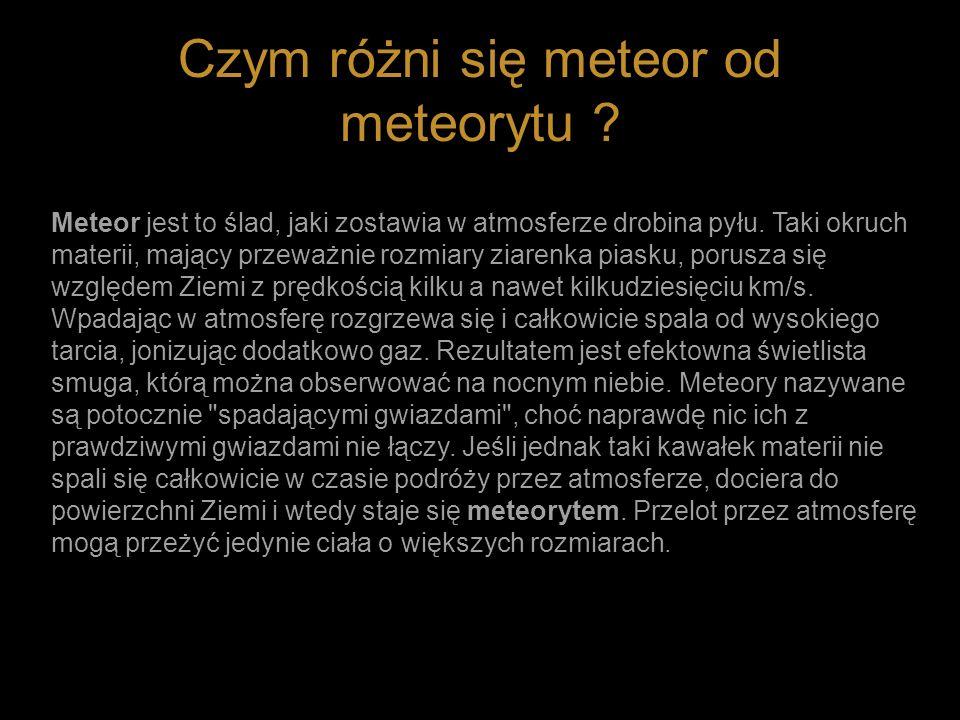 Czym różni się meteor od meteorytu