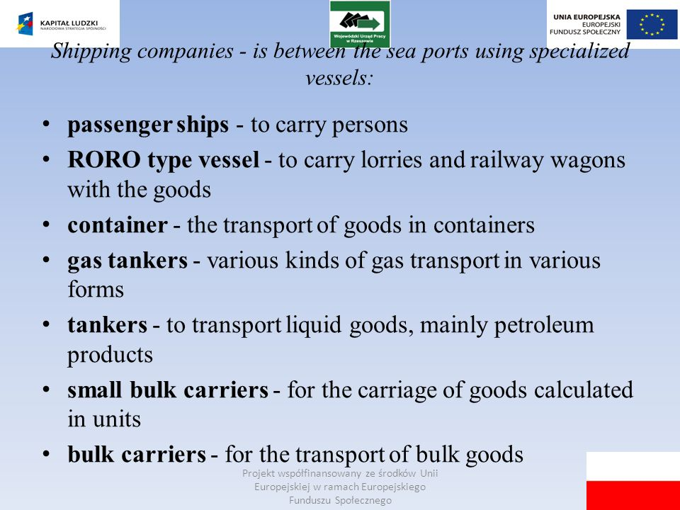 passenger ships - to carry persons