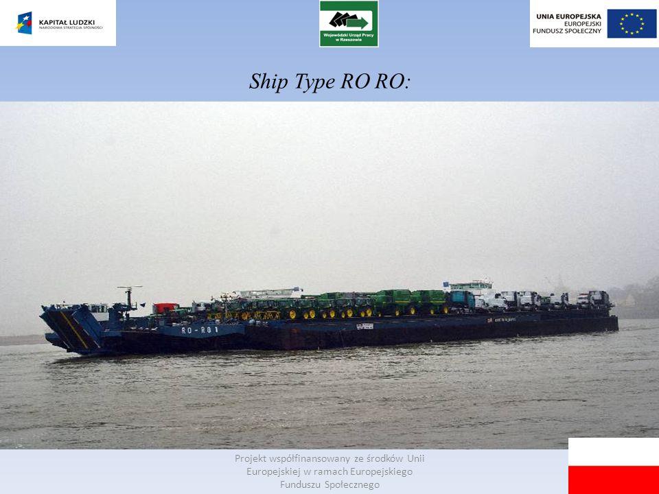Ship Type RO RO: Projekt współfinansowany ze środków Unii Europejskiej w ramach Europejskiego Funduszu Społecznego.