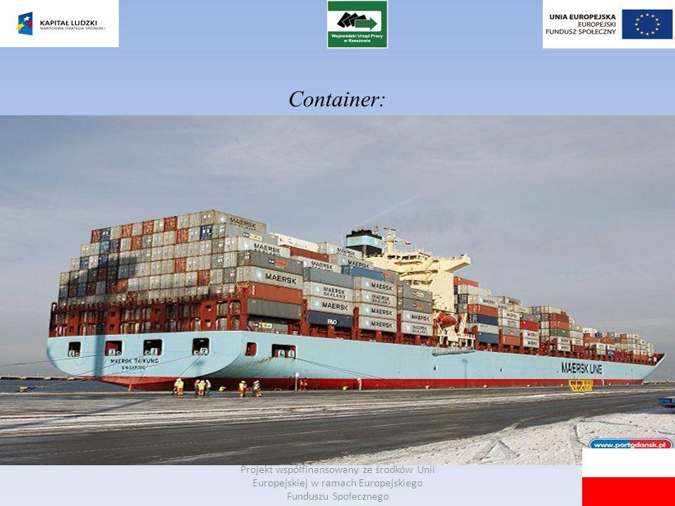 Container: Projekt współfinansowany ze środków Unii Europejskiej w ramach Europejskiego Funduszu Społecznego.
