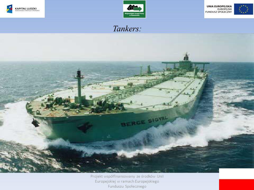Tankers: Projekt współfinansowany ze środków Unii Europejskiej w ramach Europejskiego Funduszu Społecznego.