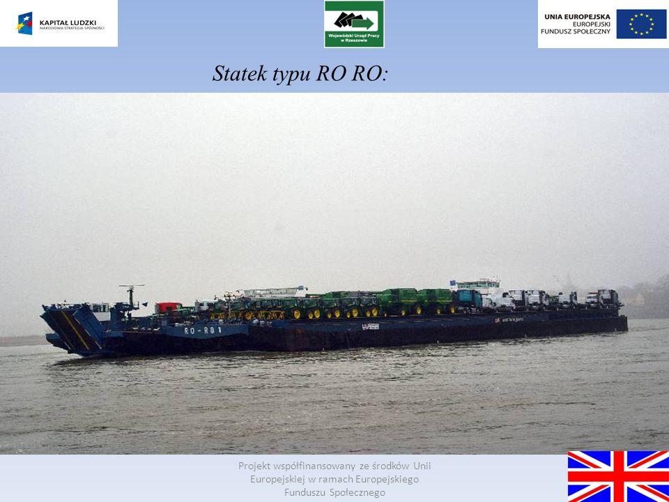 Statek typu RO RO: Projekt współfinansowany ze środków Unii Europejskiej w ramach Europejskiego Funduszu Społecznego.